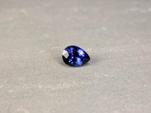 4.74 ct pear shape blue sapphire