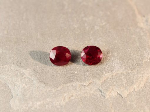 5.75 ct red oval ruby