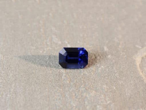 6.13 ct royal blue octagon sapphire