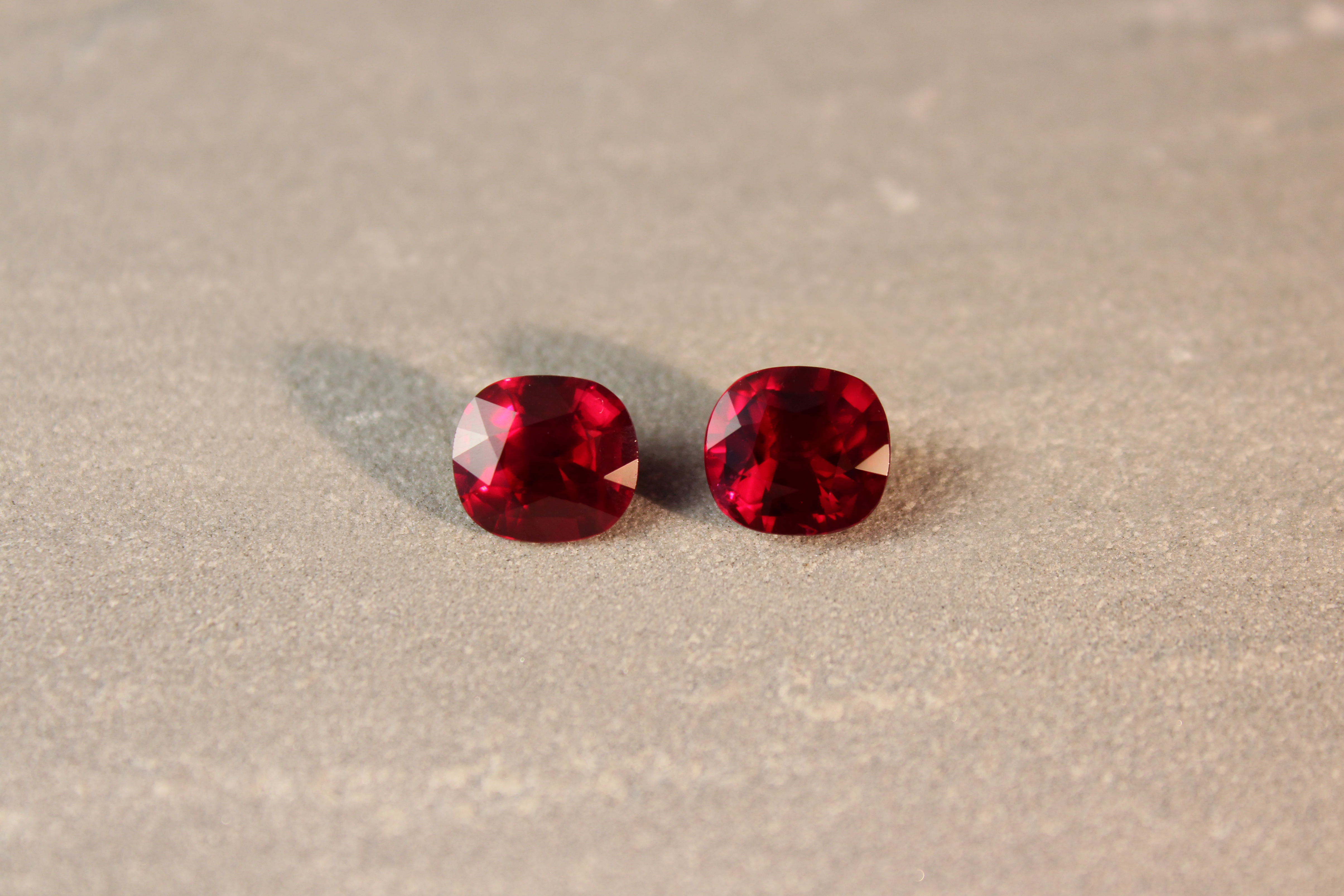 unheated oval ruby