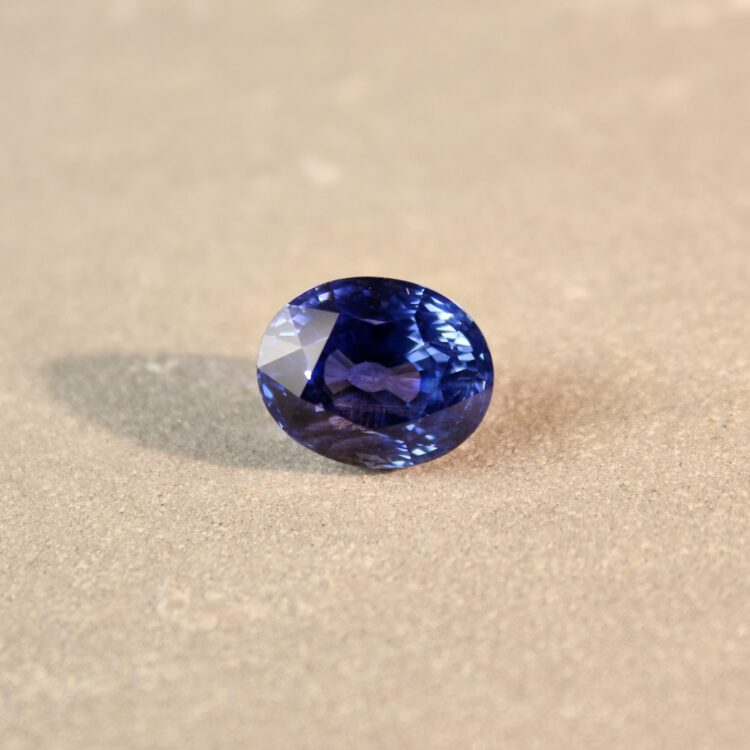 7.10 ct blue oval sapphire