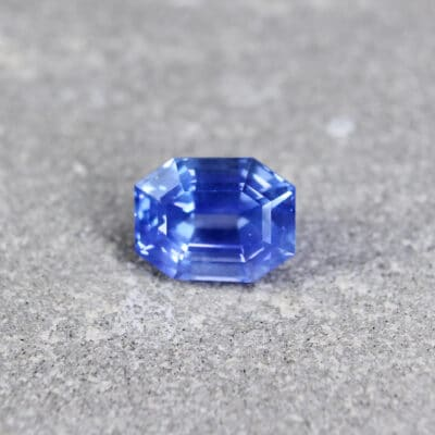 2.26 ct blue octagon sapphire
