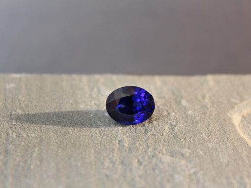 7.70 ct royal blue oval sapphire
