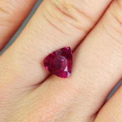 2.12 ct purplish red pear shape ruby