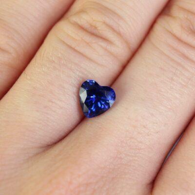 1.78 ct blue heart shape sapphire