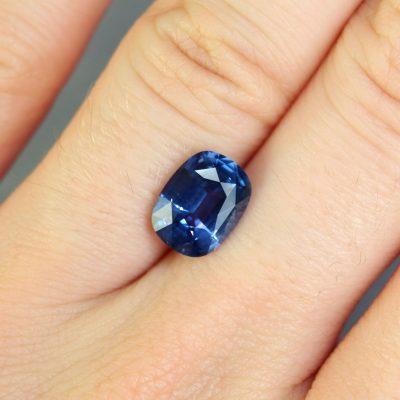 Blue Violet Cushion Sapphire