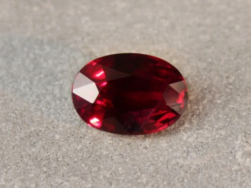 2.09 ct oval vivid red ruby