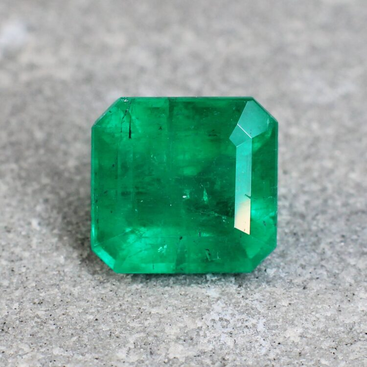 2.52 ct radiant green emerald
