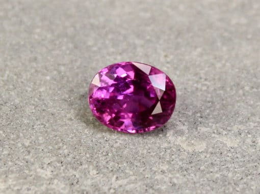 1.05 ct purplish red oval ruby