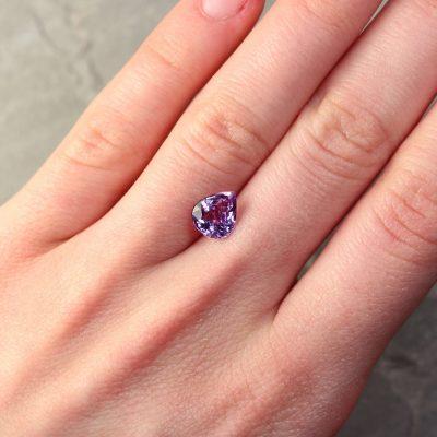 2.00 ct purple pear sapphire
