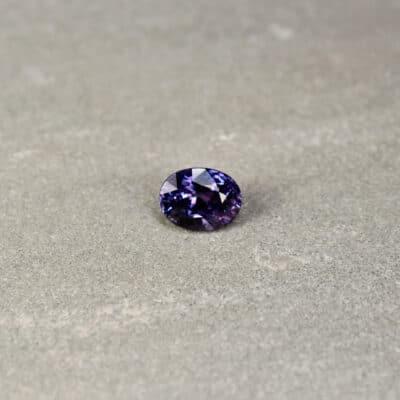 2.02 ct bluish purple oval sapphire