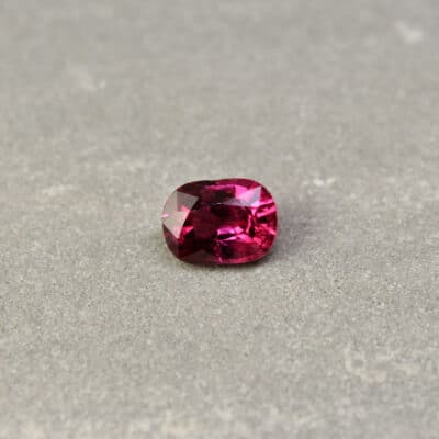 2.12 ct red cushion ruby