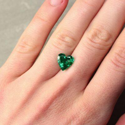 2.63 ct green heart emerald