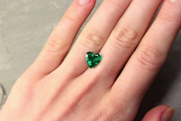 2.63 ct green heart emerald