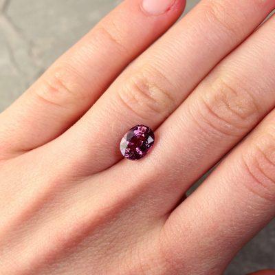 2.71 ct purple oval sapphire