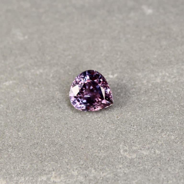 2.95 ct pear shape purple sapphire