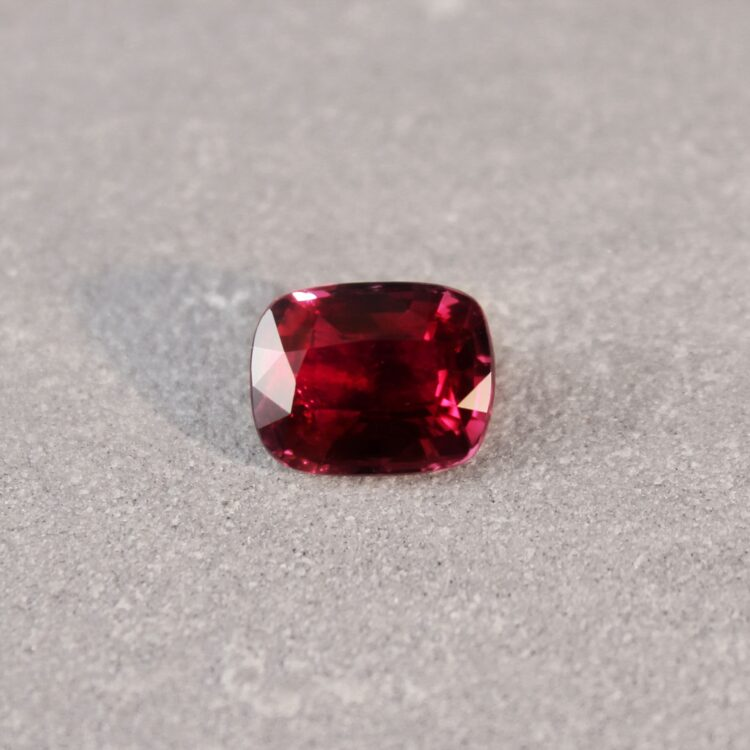 3.03 ct vivid red cushion ruby