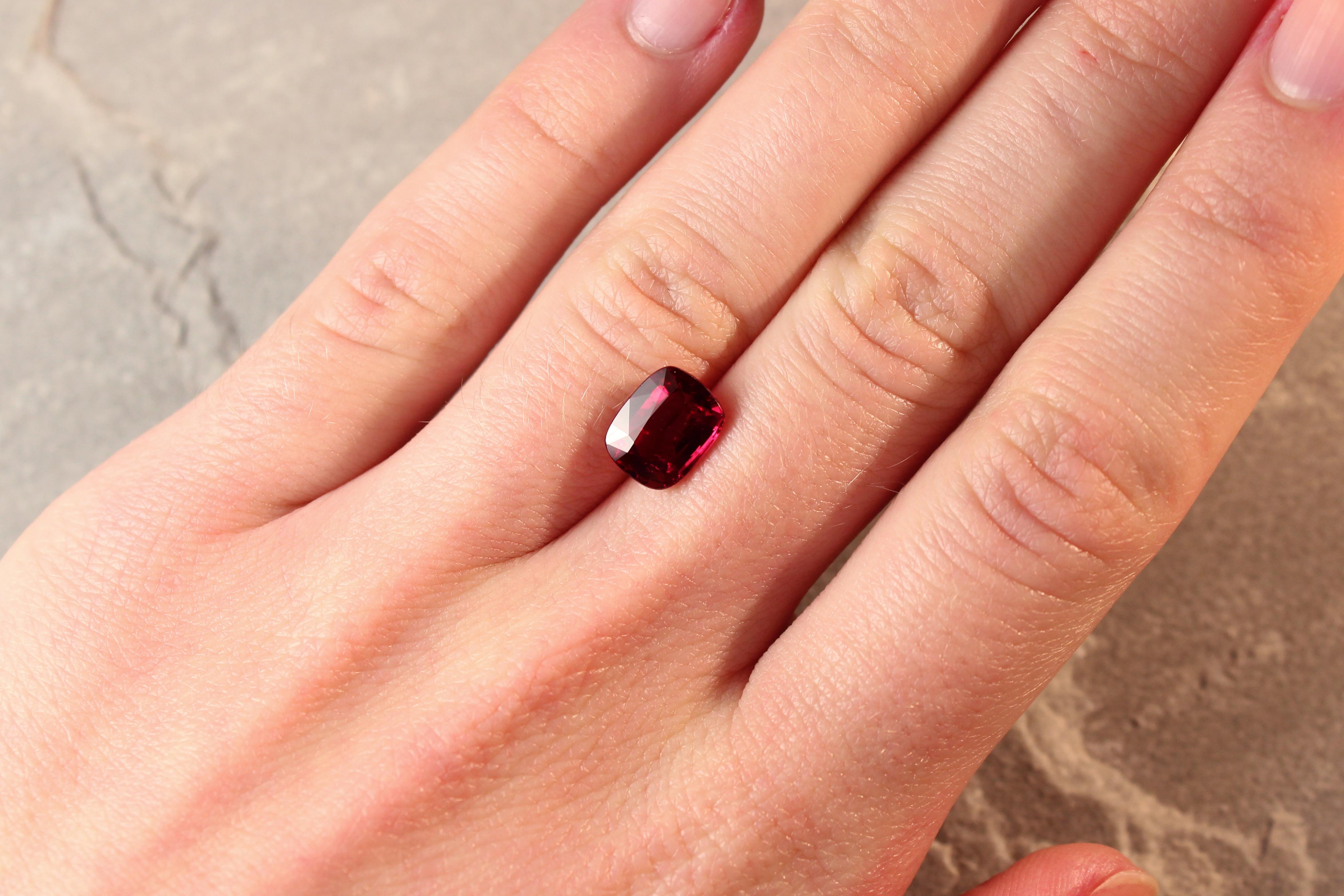 deep red ruby Haruni Fine Gems