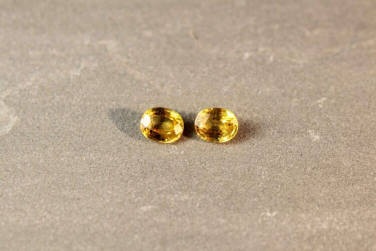 3.47 ct yellow oval sapphire