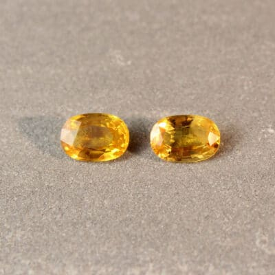 3.61 ct yellow oval sapphire