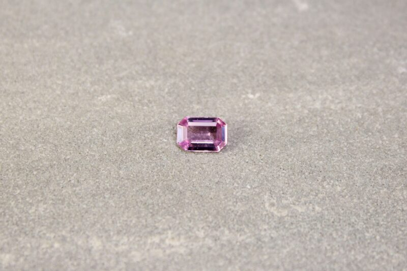 0.83 ct pink emerald-cut sapphire