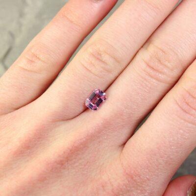 1.09 ct pink emerald-cut sapphire