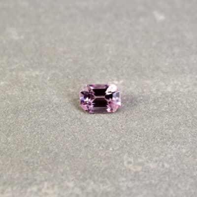 1.12 ct light pink emerald-cut sapphire