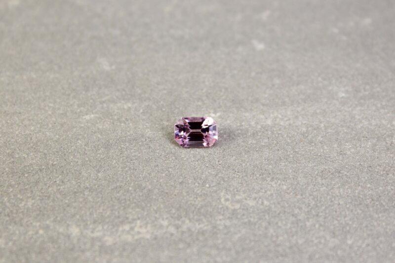 1.12 ct light pink emerald-cut sapphire