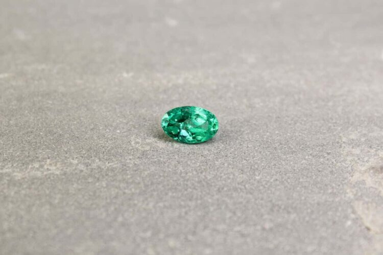 1.14 ct green oval emerald