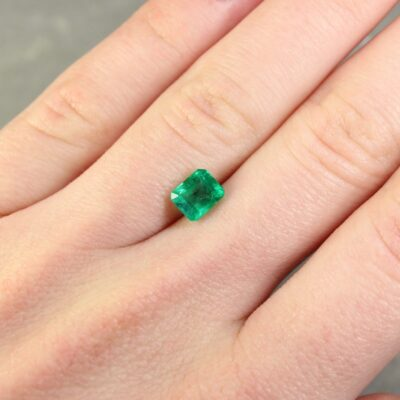 1.17 ct green octagon emerald