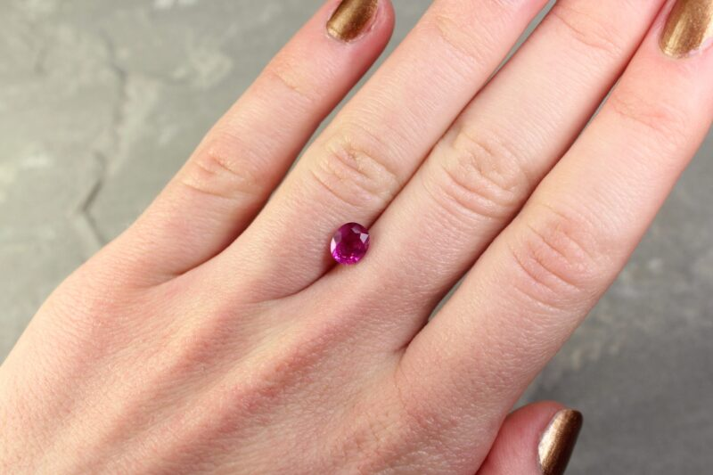 1.21 ct pink oval sapphire