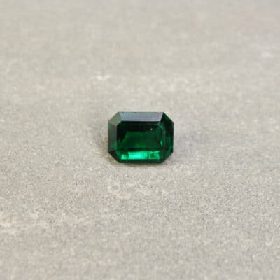 1.62 ct octagon bluish green emerald
