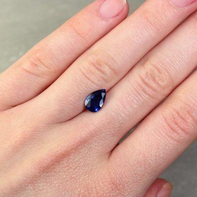 1.92 ct blue pear sapphire