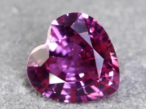 2.84 ct pink heart shape sapphire