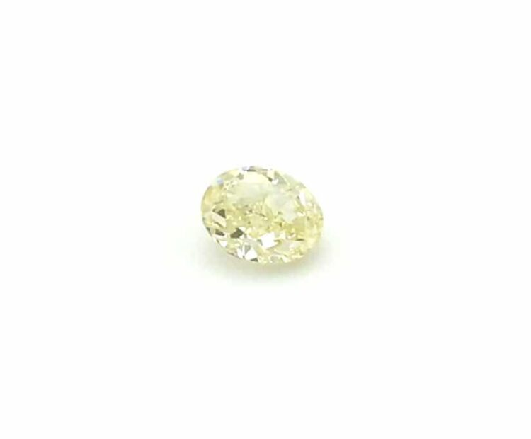 0.72 ct yellow oval diamond
