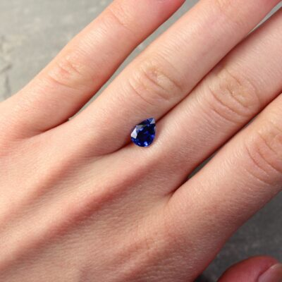 1.21 ct pear shape blue sapphire