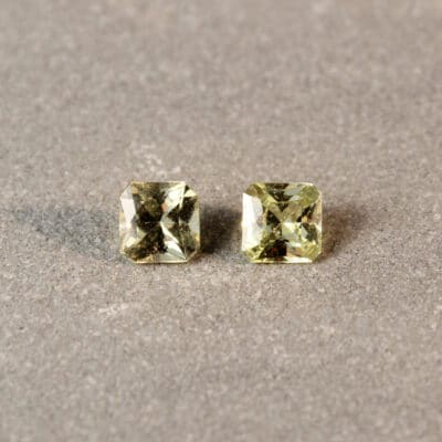 Radiant Yellow Sapphire Pair