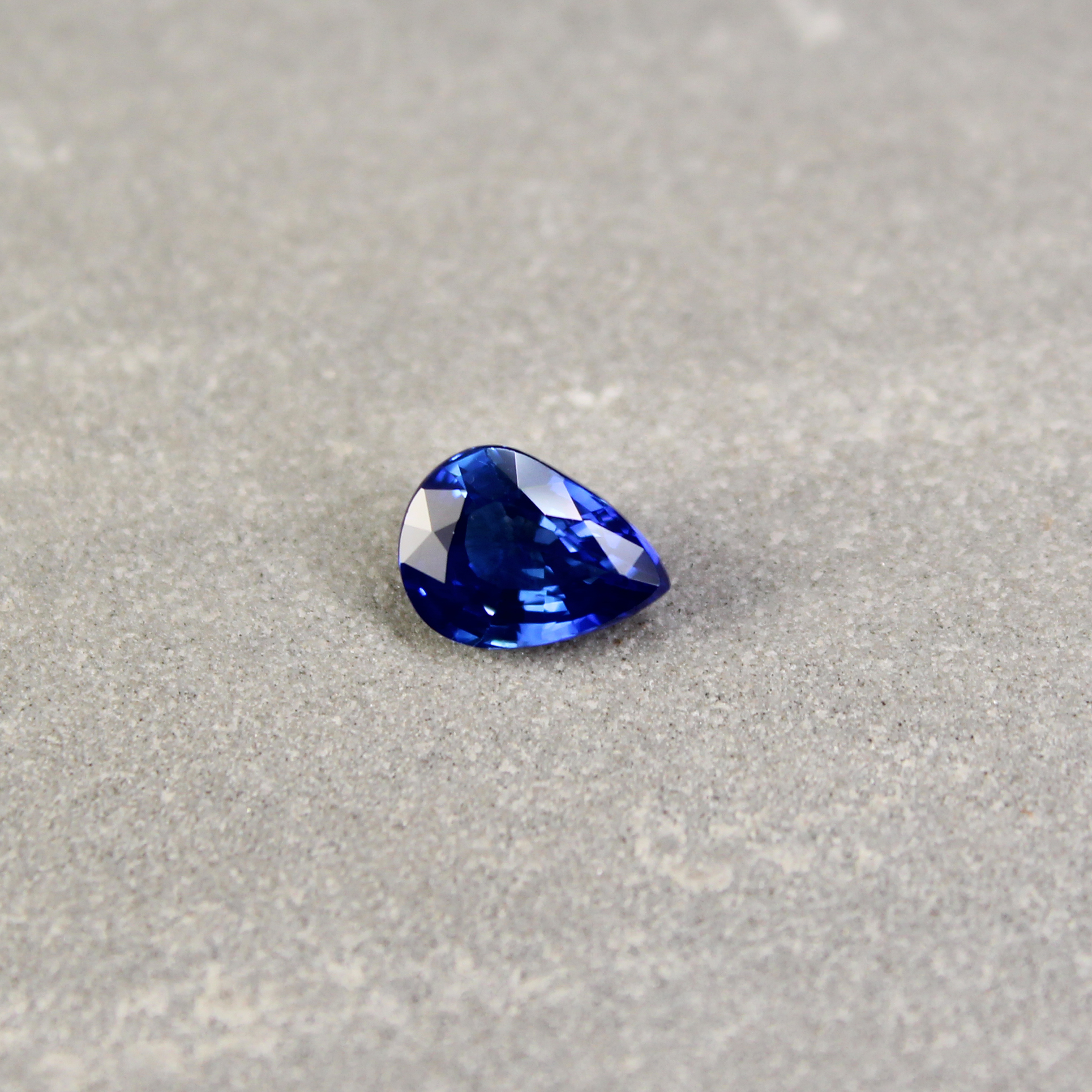 tradesy shape pear other blue i ring shaped sapphire new