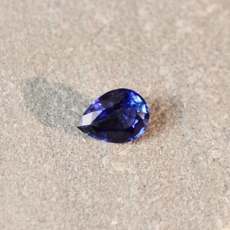 1.36 ct blue pear shape sapphire