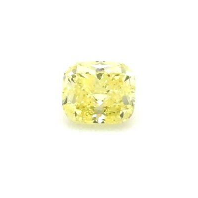 1.43 ct intense yellow cushion diamond
