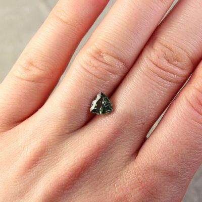 Trilliant Green Sapphire