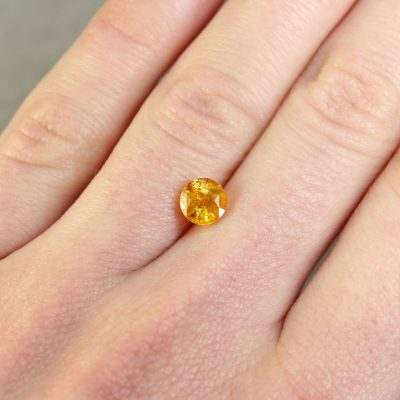 Round Orangy Yellow Sapphire