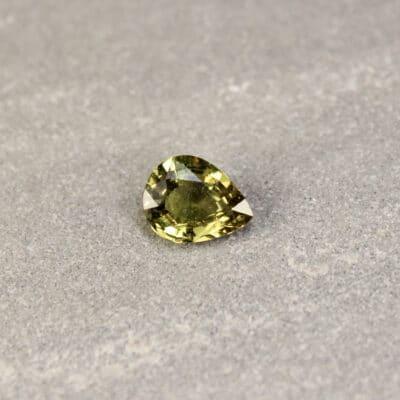 1.60 ct pear shape green sapphire