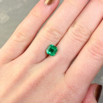 1.68 ct green octagon emerald