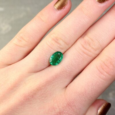 1.69 ct green oval emerald