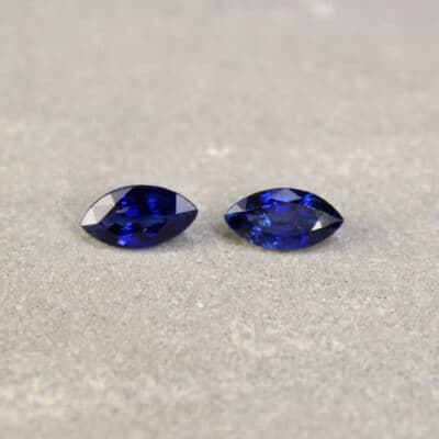 1.78 ct blue marquise sapphire pair