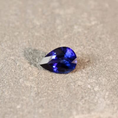 1.86 ct blue pear shape sapphire