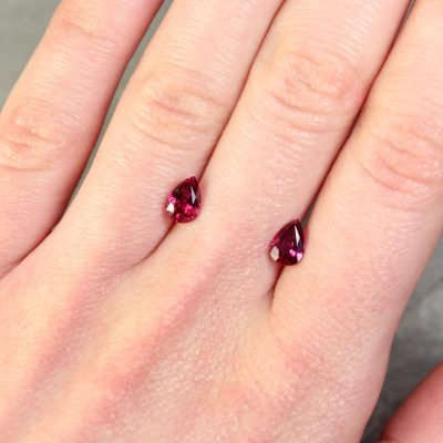 Pear Shape Ruby Pair