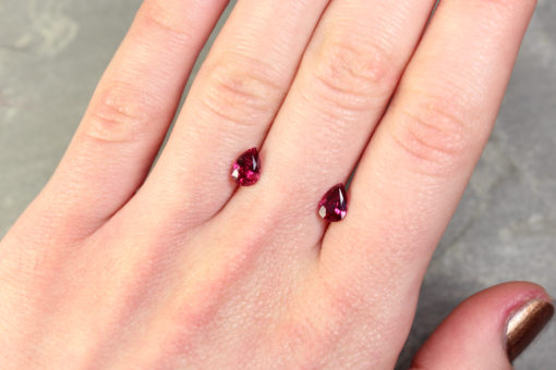 Pear Shape Ruby Pair