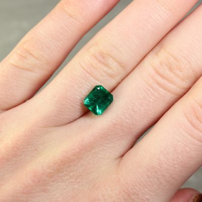 1.93 ct green octagon emerald